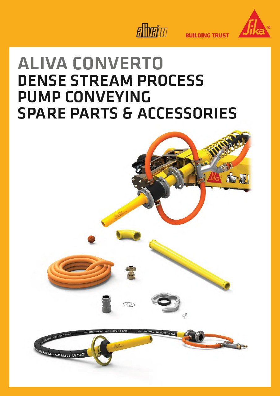 Aliva Converto spare parts and accessories, Dense stream process pump conveying