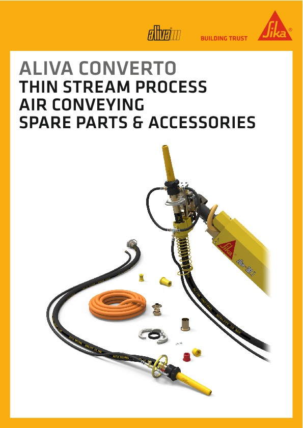 Aliva Converto spare parts and accessories, Thin stream process air conveying